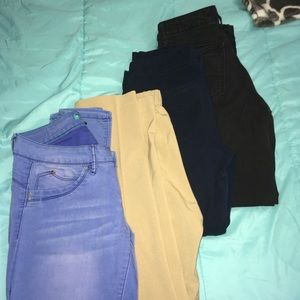 Jeans and Slacks Bundle Sz7/8 4pairs 1price